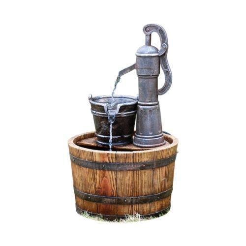 Barrel Water Feature Ebay