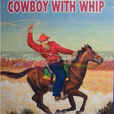 COWBOY WITH WIP - COWBOY MIT LASSO - LITHOGRAPHIERT - BLECH - UHRWERK