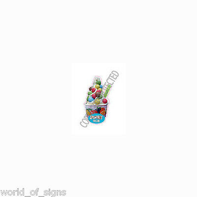 ice cream van sticker smarties tub Die Cut