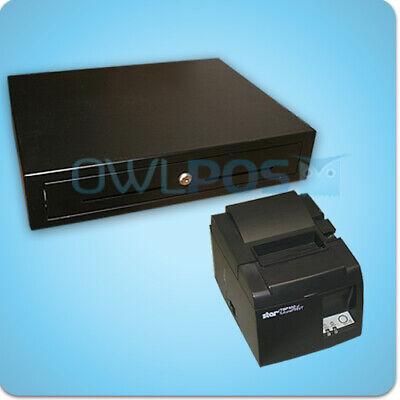 Star Tsp143lan Receipt Printer Cash Drawer Combo Tsp100 Ethernet Square Shopkeep