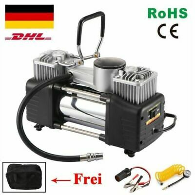 2Zylinder 10 bar 12V Auto Kompressor Mit 3 Zusatzadapter 85 L/min Luftkompressor