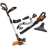 WG951.4 WORX 20V Cordless 3-in-1 Grass Trimmer + Blower w/2 Batteries