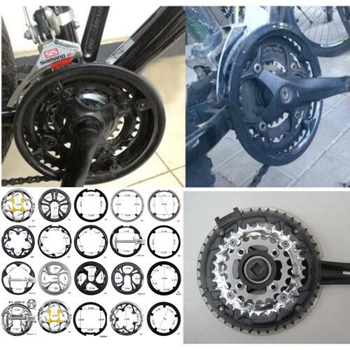 Bicycle Bike Chainring Sprocket Crankset Guard Protector 42-44 Teeth 4 Holes