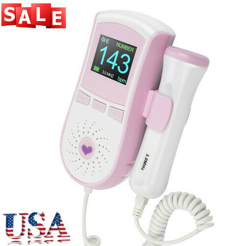 CE LCD Pocket Prenatal Fetal Doppler Baby Heart Beat Monitor Pregnancy 3Mhz +GEL