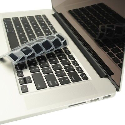 black silicone keyboard cover