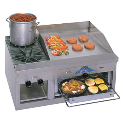 """Comstock Castle Fhp36-24b 36"""" Countertop Gas Griddle/hotplate/overfired Broiler"""