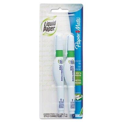 Paper Mate Liquid Paper Correction Pen 7 Ml White 2pack Pap5622415