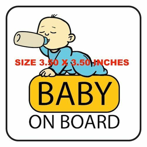 BABY ON BOARD STICKER DECAL BABY IN CAR BABY CAUTION SIGN