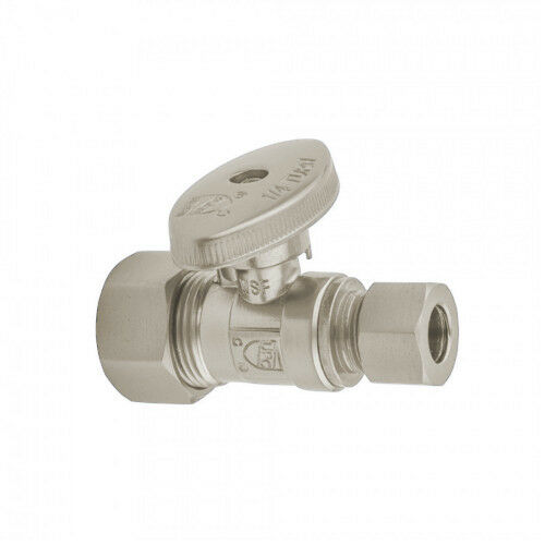 Jaclo 622-8-SN 5/8 OD COMP (Fits 1/2 in Copper) X 3/8 OD Qtr Turn Supply Valve
