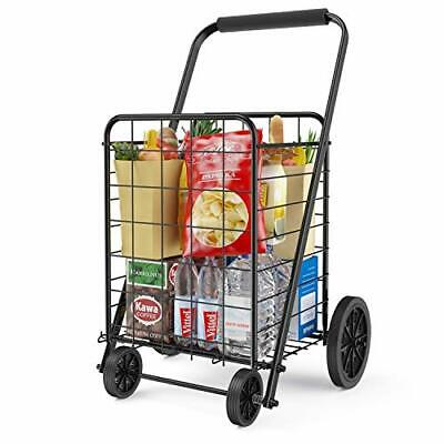 Grocery Cart With Wheels Heavy Duty Foldable Lightweight Shopping Cart 176lb..