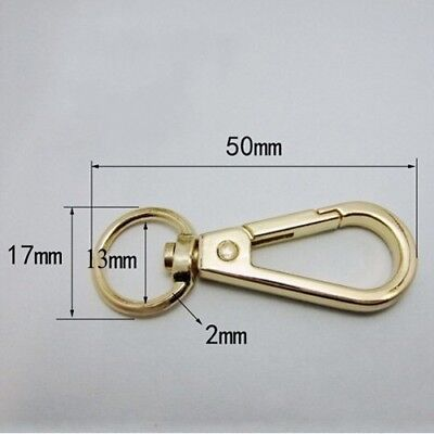 2/10/20 Lobster Clasps Clips Claw Handbag Hooks Swivel Snap Buckle Trigger Gold