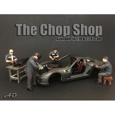 1/18 scale NEW -  Chop Shop  Complete Set of 4 figures from  American Diorama