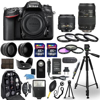 Nikon D7200 Digital Camera + 18-55mm + 70-300mm + 30 Piece Accessory Bundle