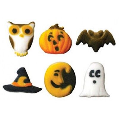 24 Edible Halloween Cupcake Toppers Decorations Ghost Fright Spooky Party Scary