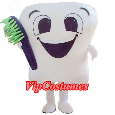New tooth Mascot Costume Cartoon Mascot Costume Fancy - Tooth Costumes