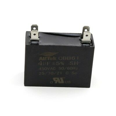 4UF 450V 50/60Hz  HVAC Mini-Split Replacement Capacitor - ALLTEK