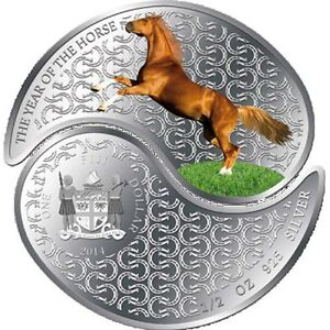Silver Collectable year of the horse coin