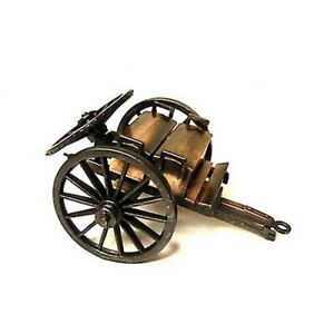 CANNON AMMUNITION CAISSON CIVIL WAR NAPOLEONIC METAL 1/32 BRITAIN TYPE FREE SHIP