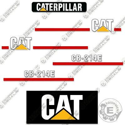 Caterpillar Cb214e Decal Kit Vibratory Smooth Drum Roller - Aftermarket 3m Kit