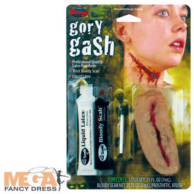 Gory Gash FX Make-Up Kit Adults Fancy Dress Zombie Scab Halloween Costume Acc (Gory Make Up)