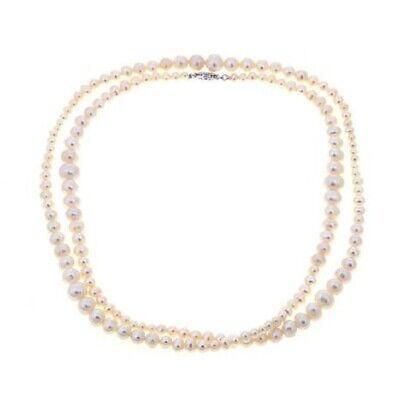 Imperial Pearls Cultured Freshwater Pearl Sterling Silver Graduated 38