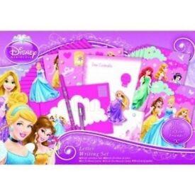 Disney Princess Letter Writing Set New In Box