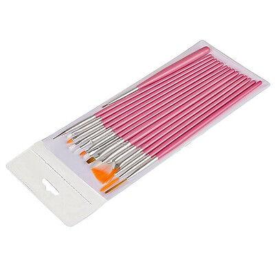 UV GEL & Acrylic Nail Art Tips Design Dotting Painting Pen Polish Brush Set on Rummage