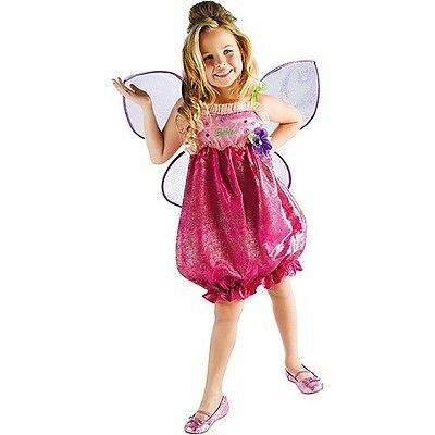 girls SMALL 4-6X Barbie THUMBELINA pink Halloween costume w/ fairy wings   - Thumbelina Halloween Costume