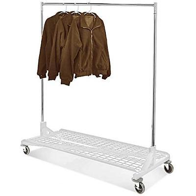 Only Hangers Commercial Grade Rolling Z Rack W Bottom Storage Shelf