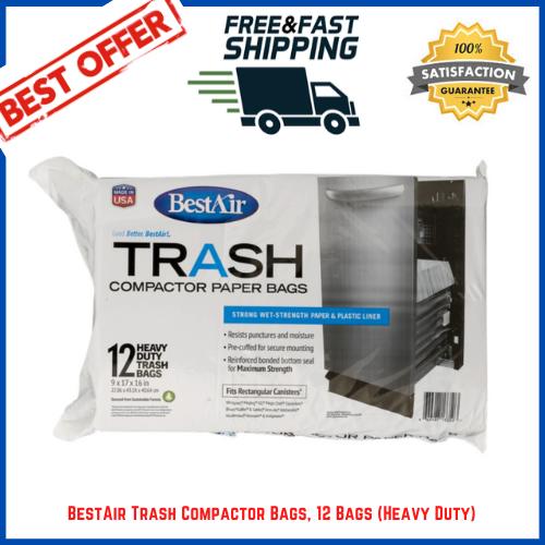 Breakroom Disposable Plastic Liner Trash Compactor Bags,2-Fl