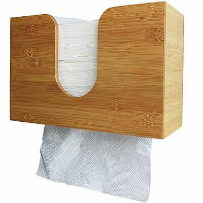 Sooyee Paper Towel Dispenser Bamboo Wall Mount & Countertop Paper Hand Towel ...