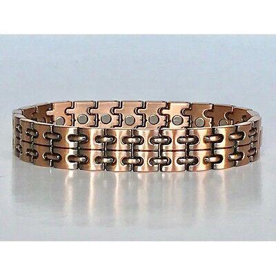 8.25  IN COPPER MAGNETIC BRACELET UNIQUE DESIGN WITH MAGNET EVERY LINK NEW 6456 (Copper Link Magnetic Bracelet)