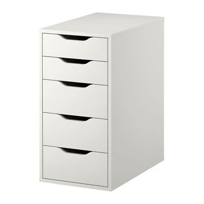 Ikea Alex Drawer Unit Home Office Room Storage Make Up Craft   White