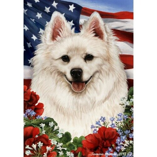 Patriotic (1) House Flag - American Eskimo 16126