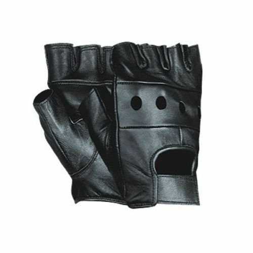 Weight Lifting Gloves Xxl: Soft Mens Fingerless Leather Gloves Weight Lifting Cycling