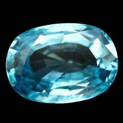 TOP ZIRCON : 3,08 Ct Natürlicher Blau Zirkon aus Kambodscha