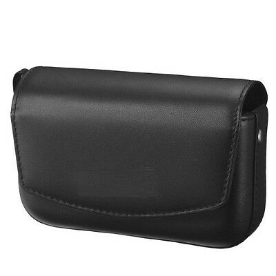 Black Leather Case Fit Most Compact & Medium Point & Shoot D