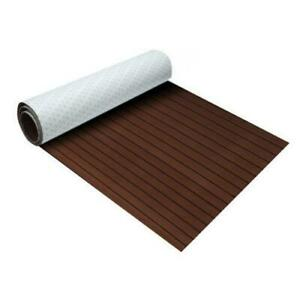Dark brown & black Marine Flooring Faux Teak EVA Foam Boat Decking 94.5x35.4x0.24(300193)