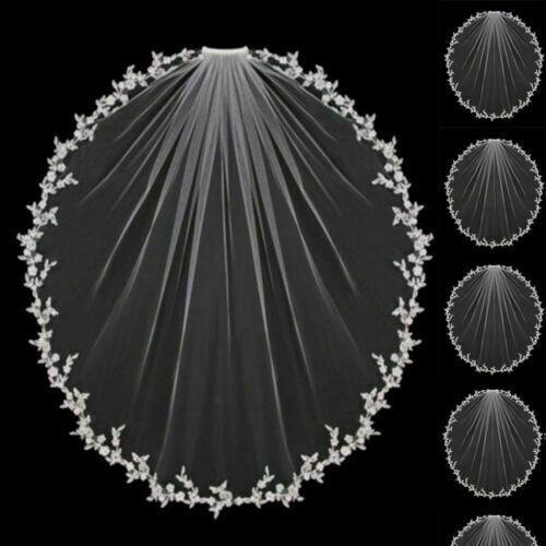Wedding Veils Bridal Veil Headpiece Shoulder Length Lace Appliques Accessories