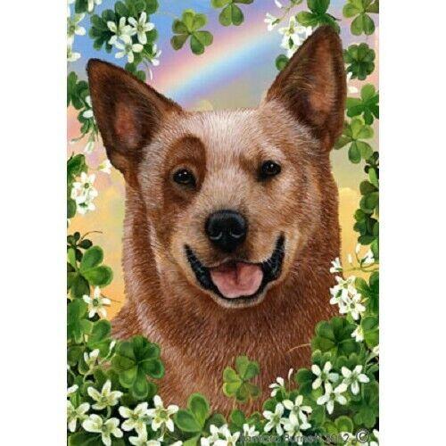 Clover House Flag - Red Australian Cattle Dog 32281