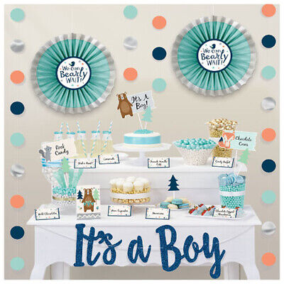 Baby Shower Decorating Kit (BABY SHOWER Bear-ly Wait DELUXE BUFFET DECORATING KIT (23pc) ~ Party)