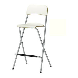 Ikea Bar Height Chairs -Folding, White (2)