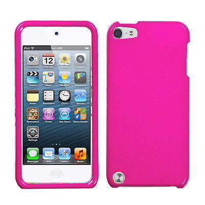 Pink Faceplate Apple ipod Touch 5 5G Protector Hard Plastic Case Snap on -