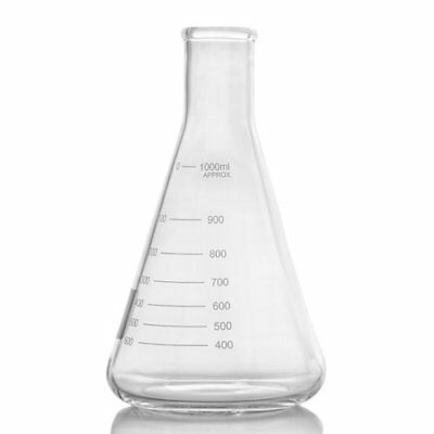 New American Labs 2000ml Narrow Mouthed Erlenmeyer Flask With Heavy Duty Rim