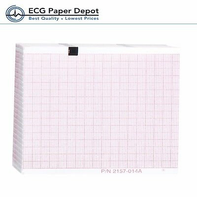 Schillerwelch Allyn Ecg Recording Paper Ekg Printing Chart 2157-014a Red 10pack