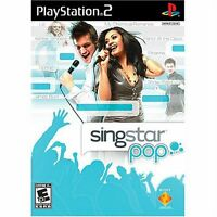 SingStar Pop Sing along to 30 songs and videos