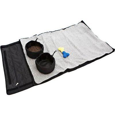 Pet Zen Medium Bed Roll Bowls Dog Pet Mat Portable Foldable Fleece Pad