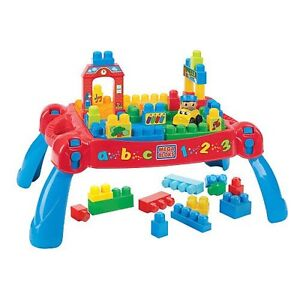 Mega blocks Build and Learn Table + extra blocks + dump truck