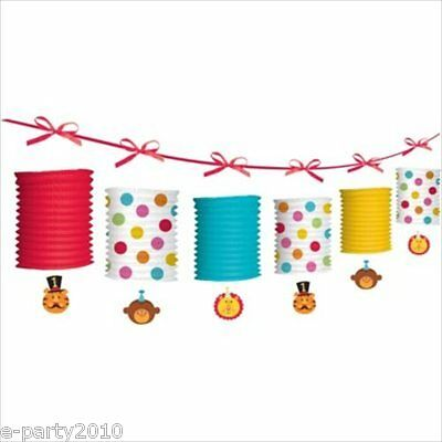FISHER PRICE CIRCUS 1st Birthday PAPER LANTERN GARLAND ~ Party Supplies Lion Boy - 1st Birthday Circus Party Supplies