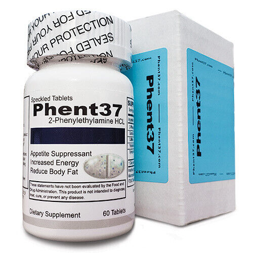 (1) Bottles Phent37 [60 Tablets] Fat Burner Appetite Suppressant